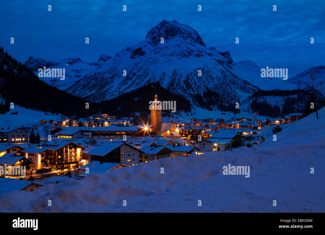 Station De Ski Lech Autriche Nuit