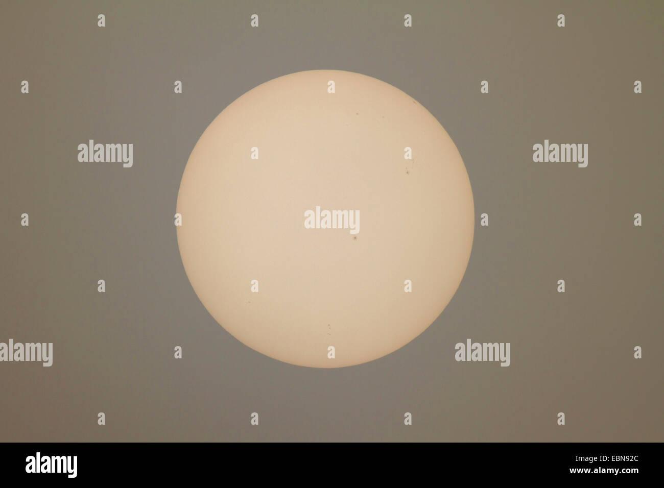 Soleil avec les taches solaires, l'Allemagne, la Bavière Photo Stock