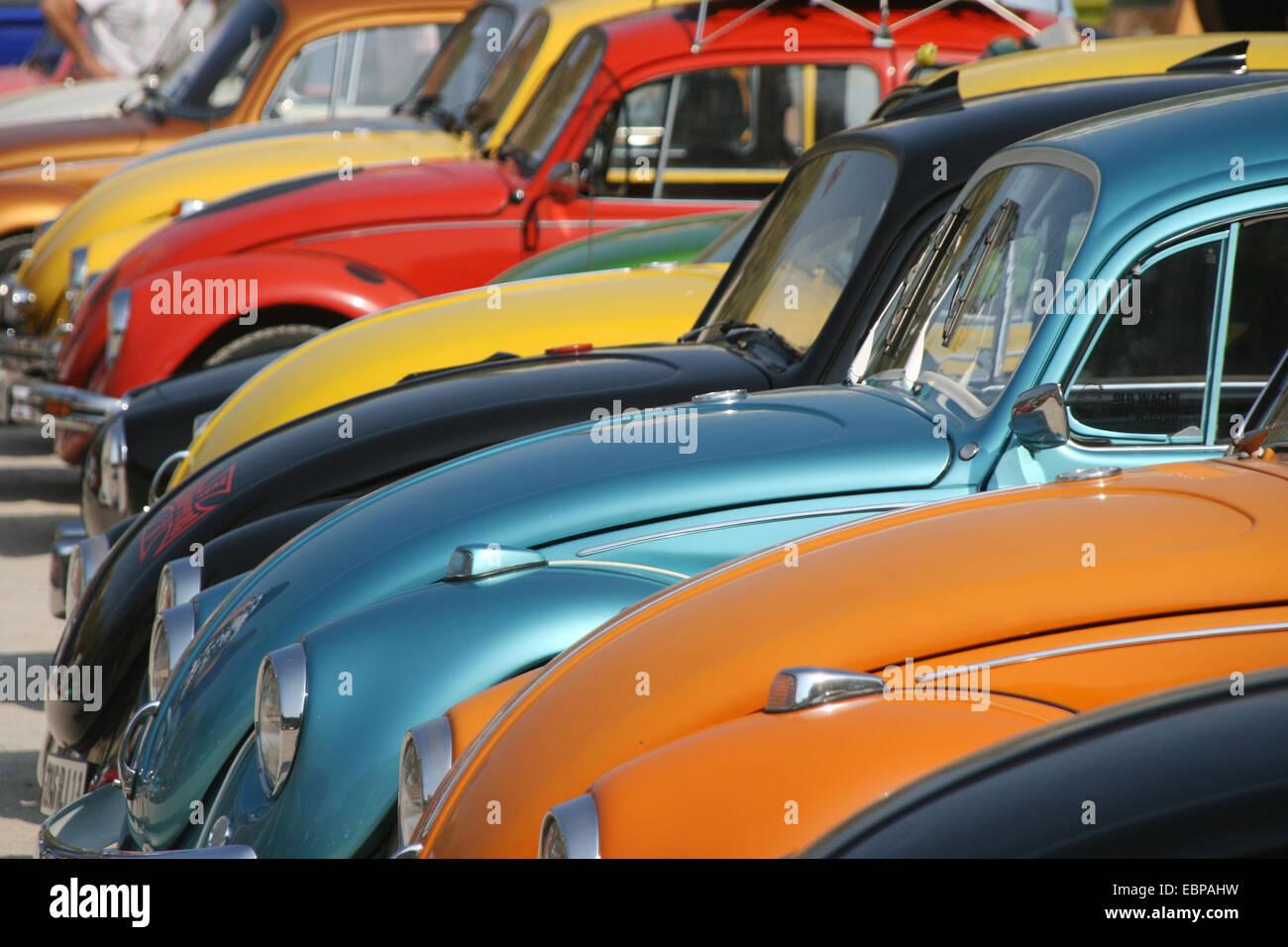 Divers Volkswagen Volkswagen dans le 16e réunion à Agde, France. Banque D'Images