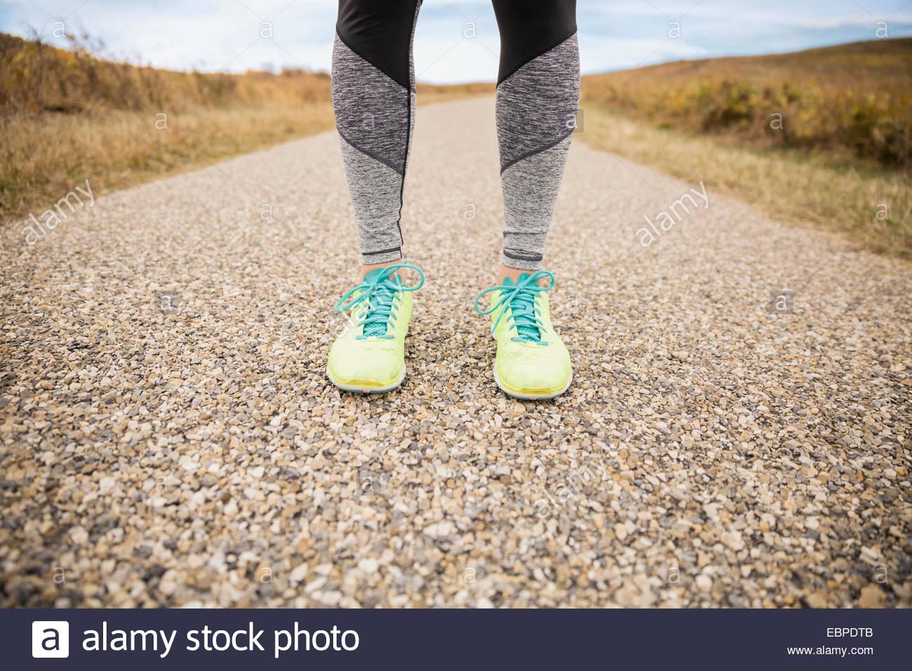 Jambes de coureurs Photo Stock