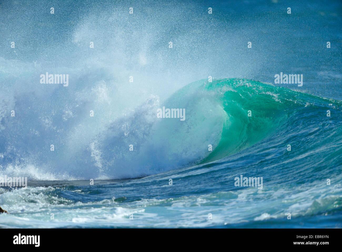 Brisement des vagues, Portugal Photo Stock
