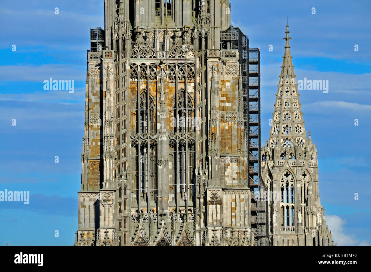 Ulm Minster, plus grande église du monde, détail, Allemagne, Bade-Wurtemberg, Ulm Banque D'Images