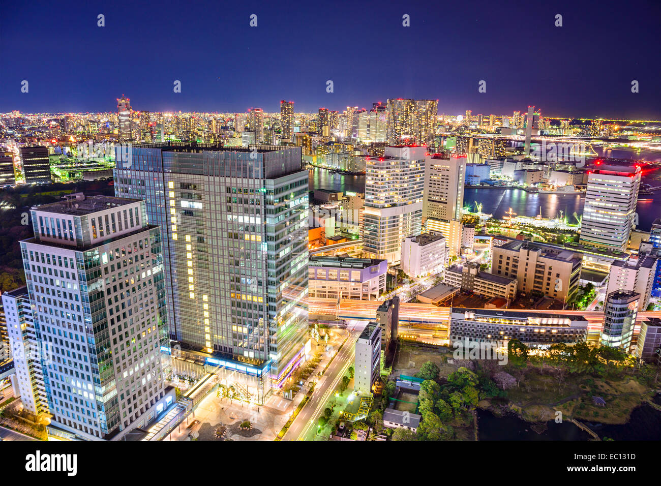 Tokyo, Japon cityscape at night. Photo Stock