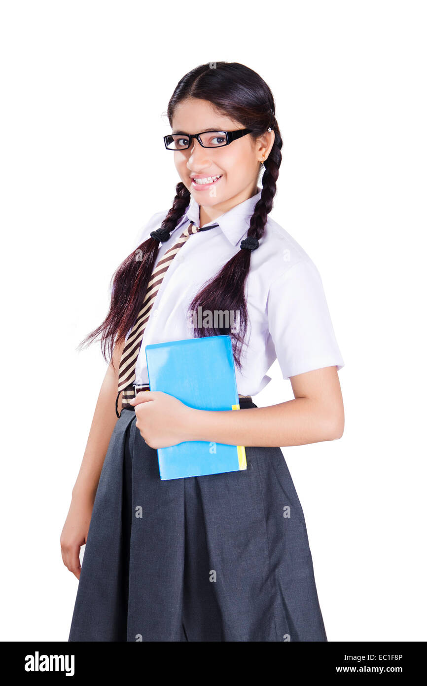 1 Indian School Girl Student