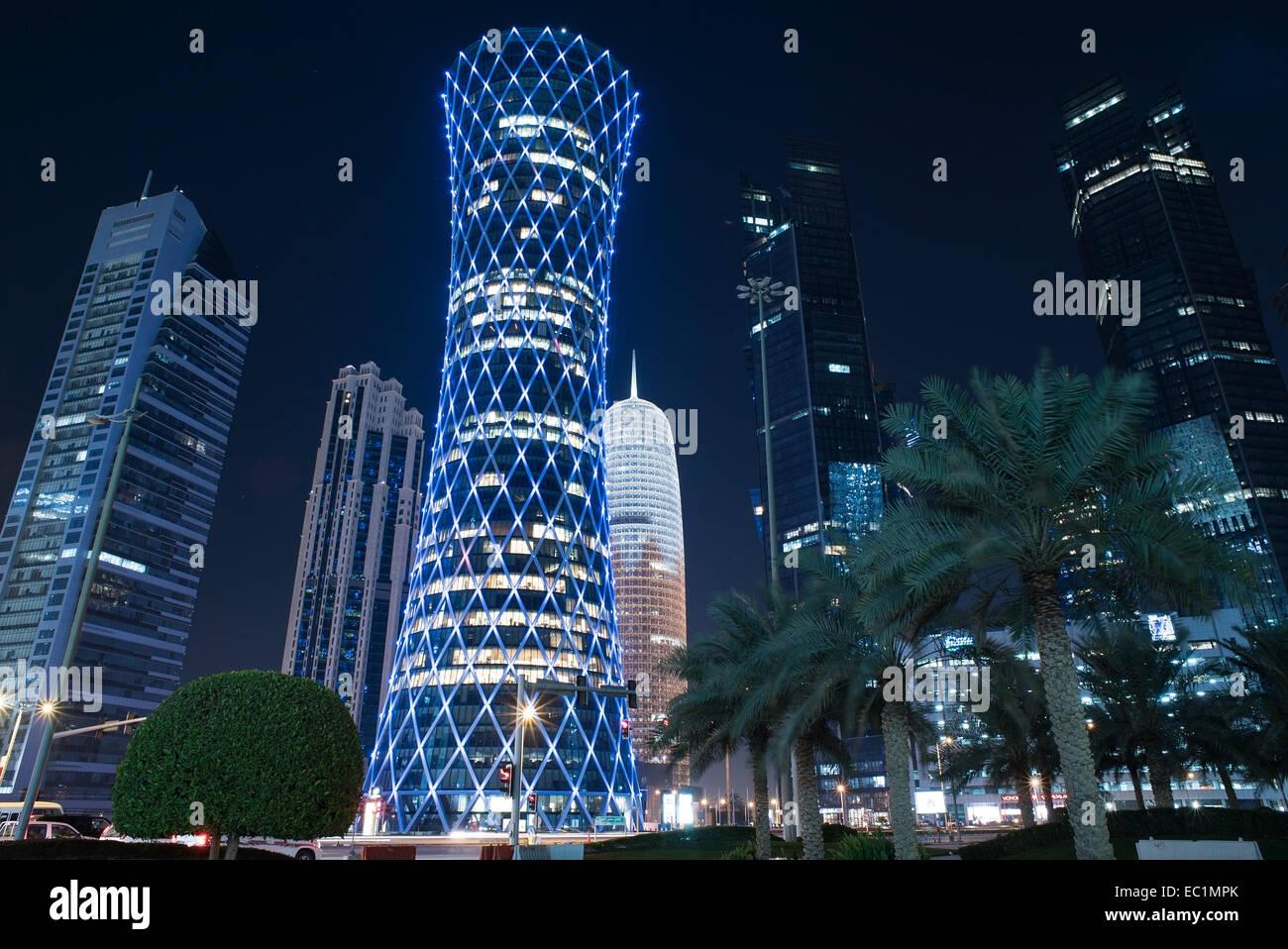 Bâtiments de Dafna sont - quartier des affaires - à Doha, Qatar Photo Stock