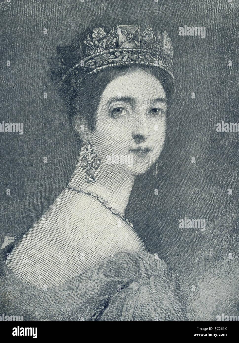 La reine Victoria (1819-1901) est monté sur le trône d'Angleterre en 1837 et régna jusqu'à Photo Stock