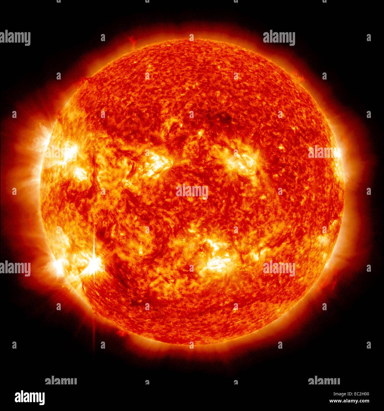 Explosions sur le soleil Photo Stock