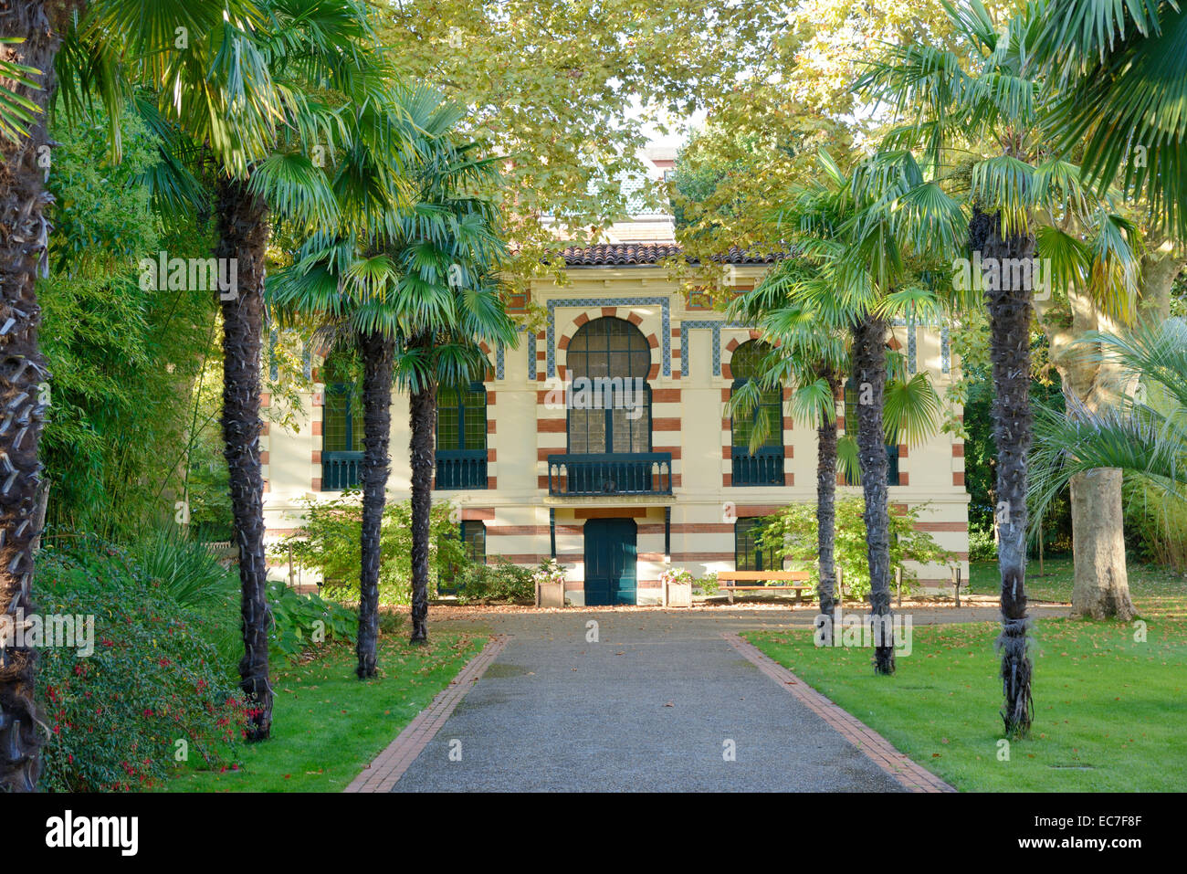 L'architecture mauresque ou style oriental du Musée Labit et Jardins TOULOUSE Haute-Garonne France Photo Stock