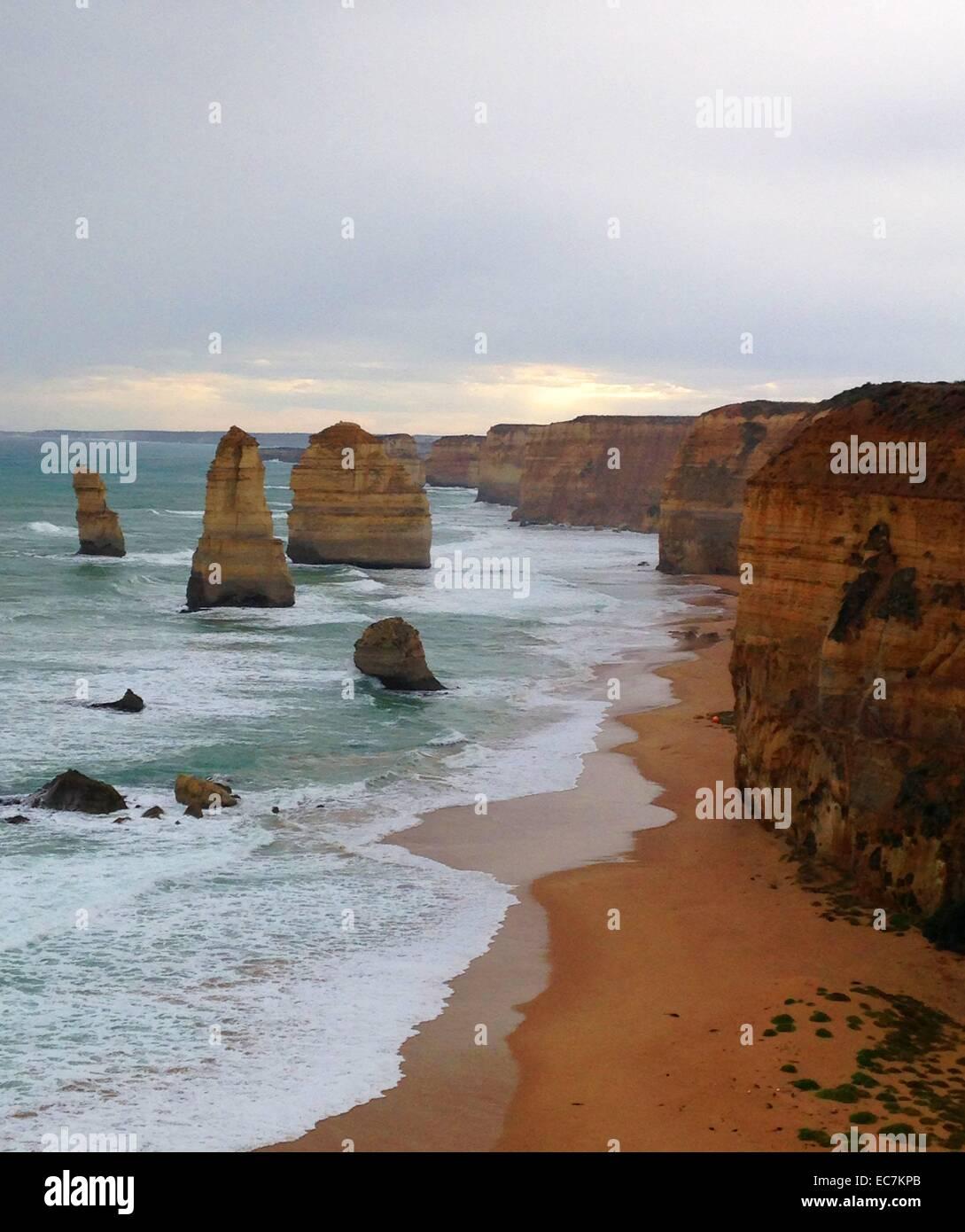 Douze Apôtres, Great Ocean Road, Victoria, sur la côte Est de l'Australie, l'océan Pacifique Photo Stock