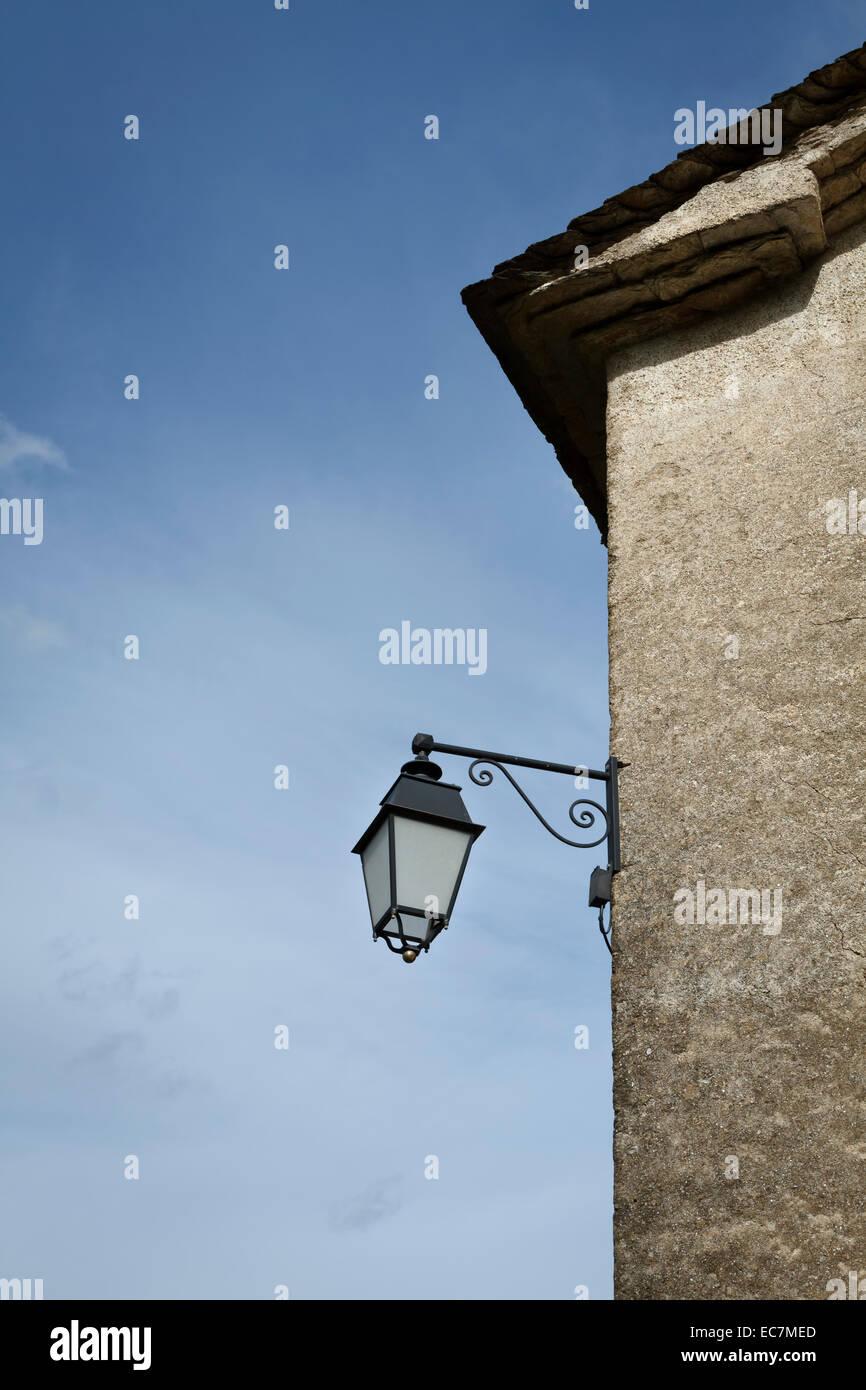 mur de poste de lampe Photo Stock