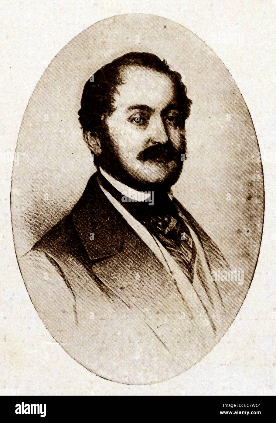 Carl; île de Leiningen était le demi-frère de la mère de la reine Victoria Photo Stock