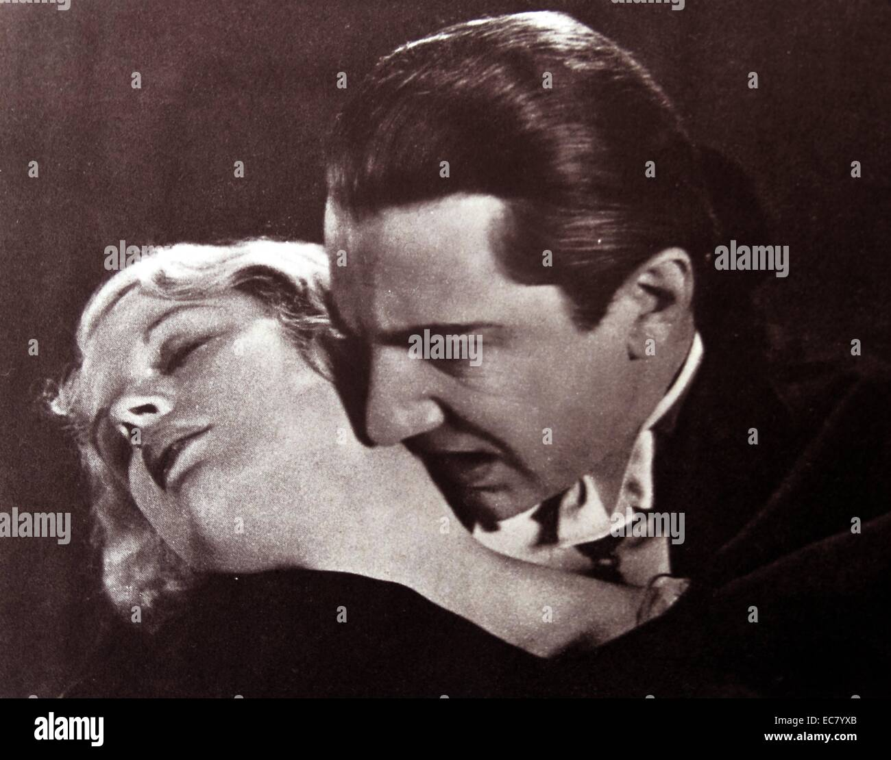 58', 'Bela Lugosi, 1931 que le vampire n'est pas une figure de mascarade mais un ami qui suce le sang Photo Stock