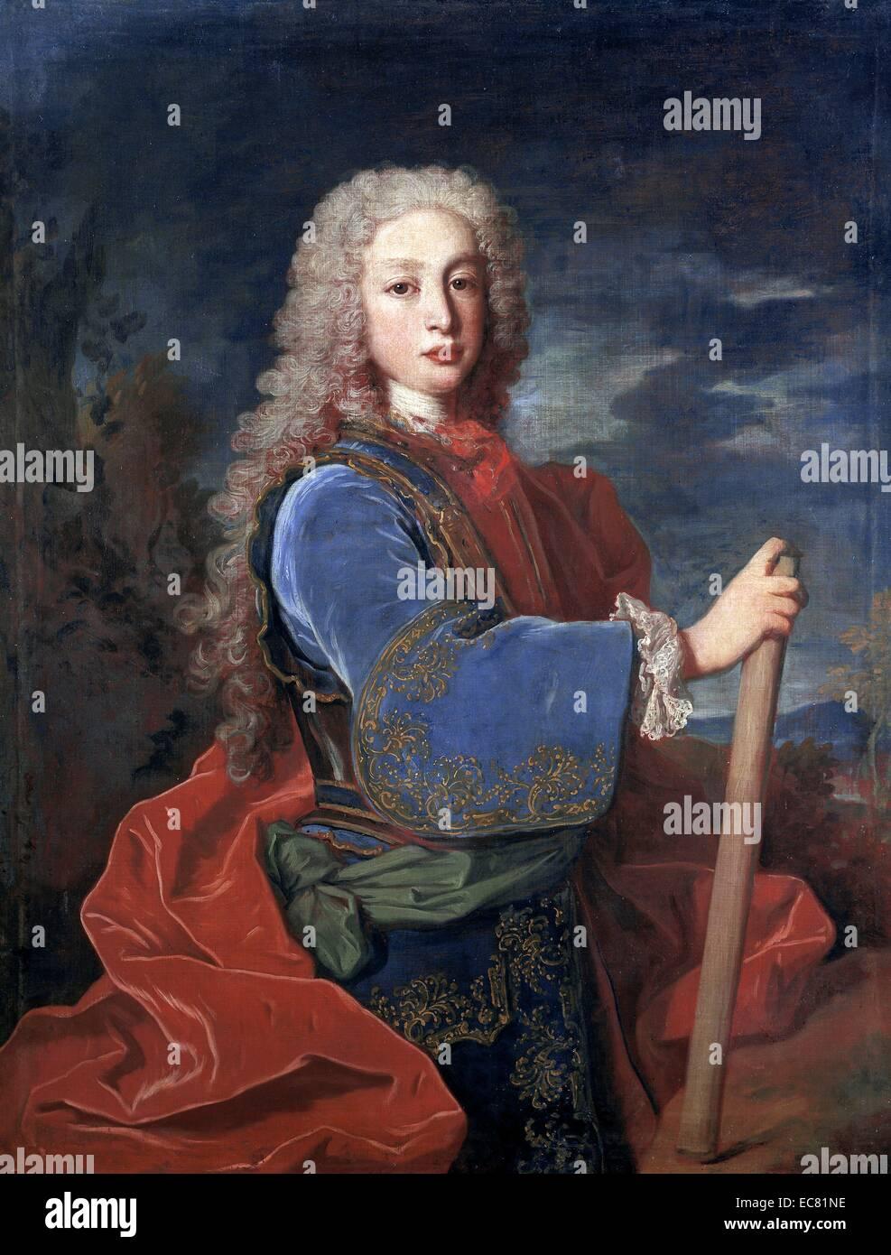 Portrait de Louis I d'Espagne Photo Stock