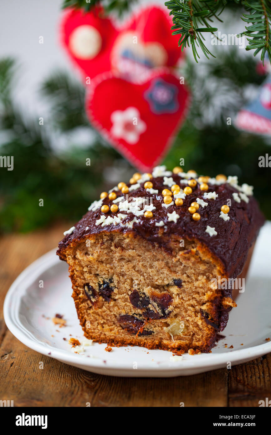 Gâteau aux pruneaux au gingembre collante Photo Stock