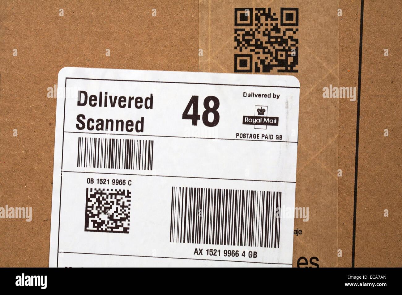 Numérisé livré, Livré par Royal Mail et scan moi sur parcelle d'Amazon Photo Stock