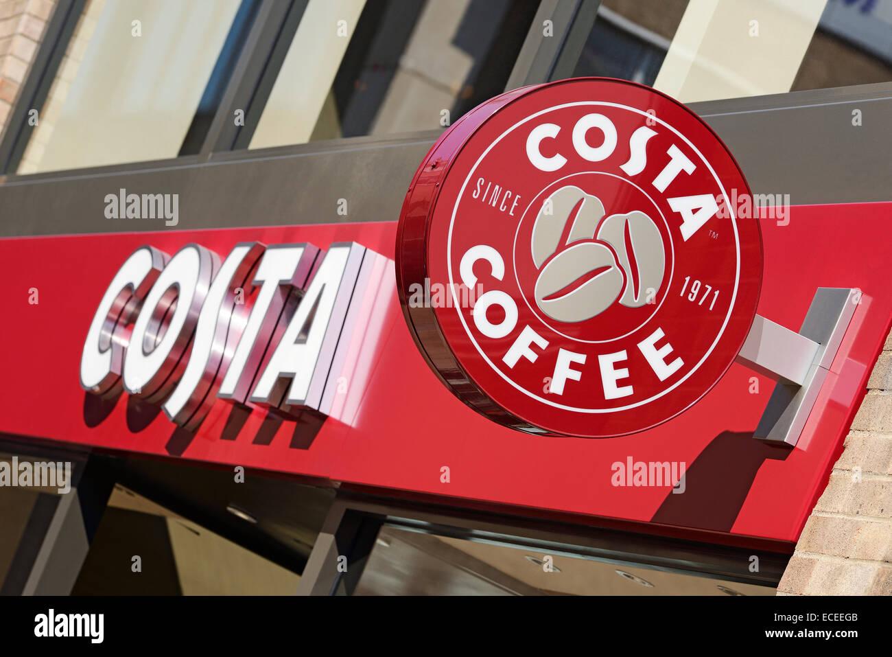 Costa Coffee, UK. Photo Stock