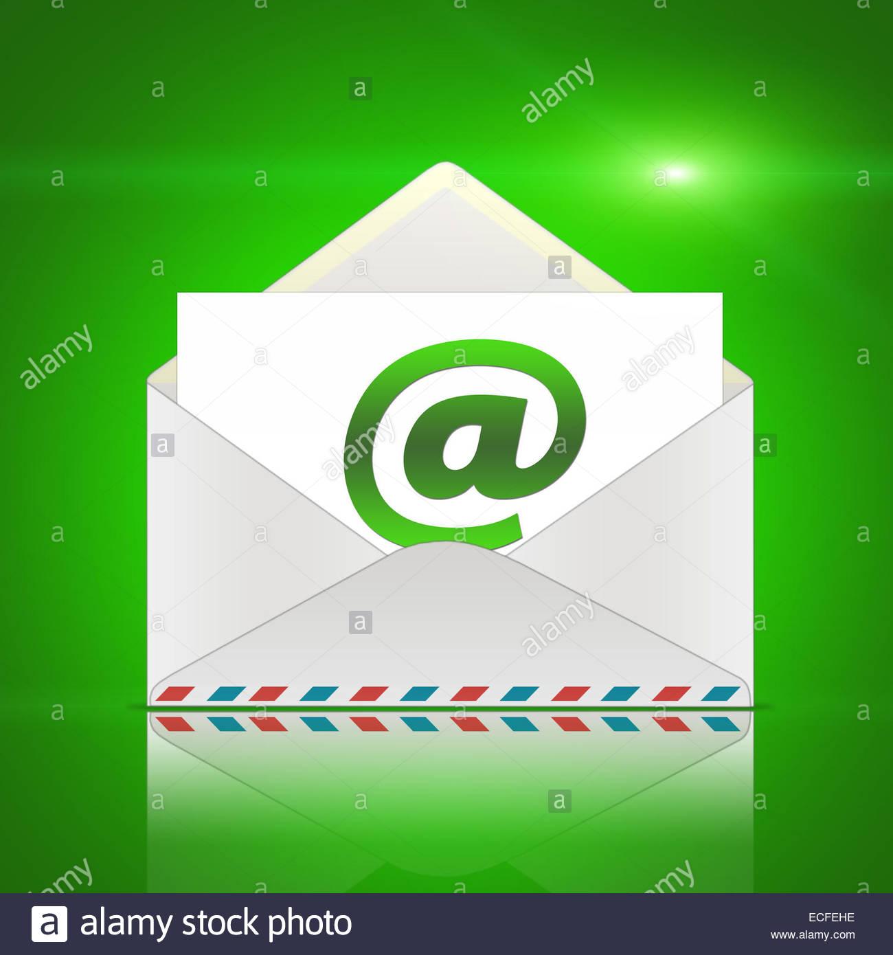 E-Mail - message de l'enveloppe Photo Stock