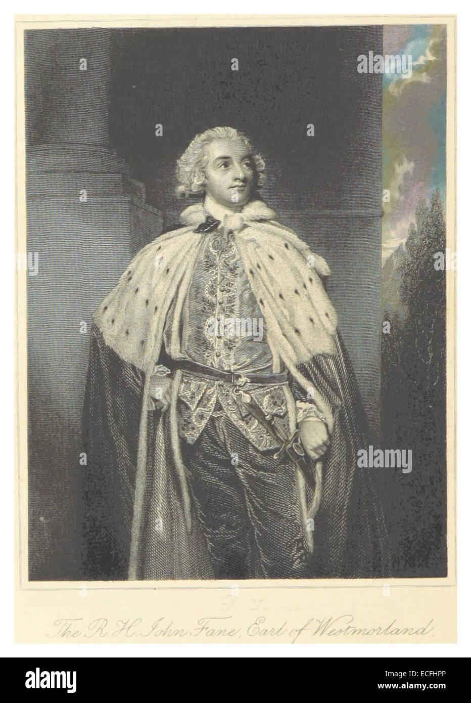 MAXWELL(1845) p352 John Fane, comte de Westmoreland Banque D'Images