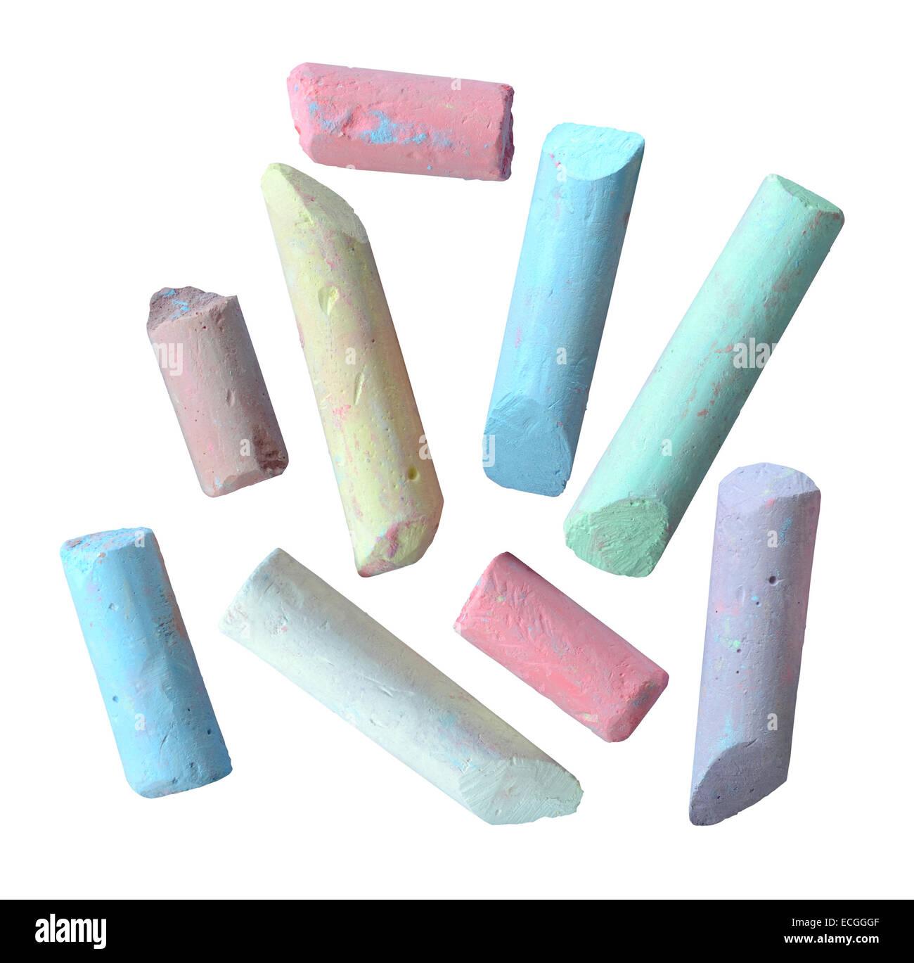 Morceaux de craie de couleur Photo Stock