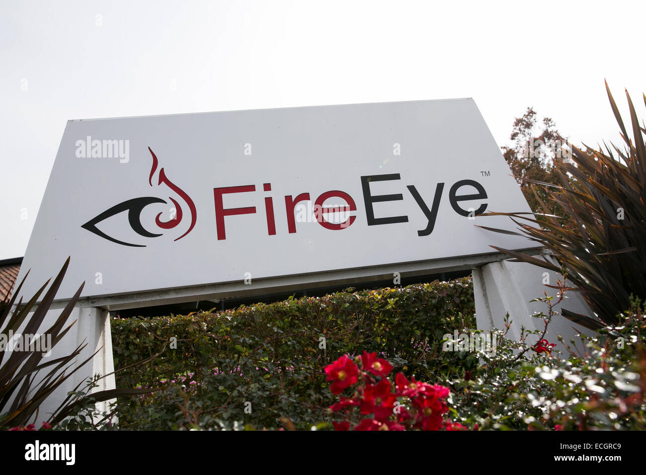 Le quartier général de la sécurité informatique software maker FireEye. Photo Stock