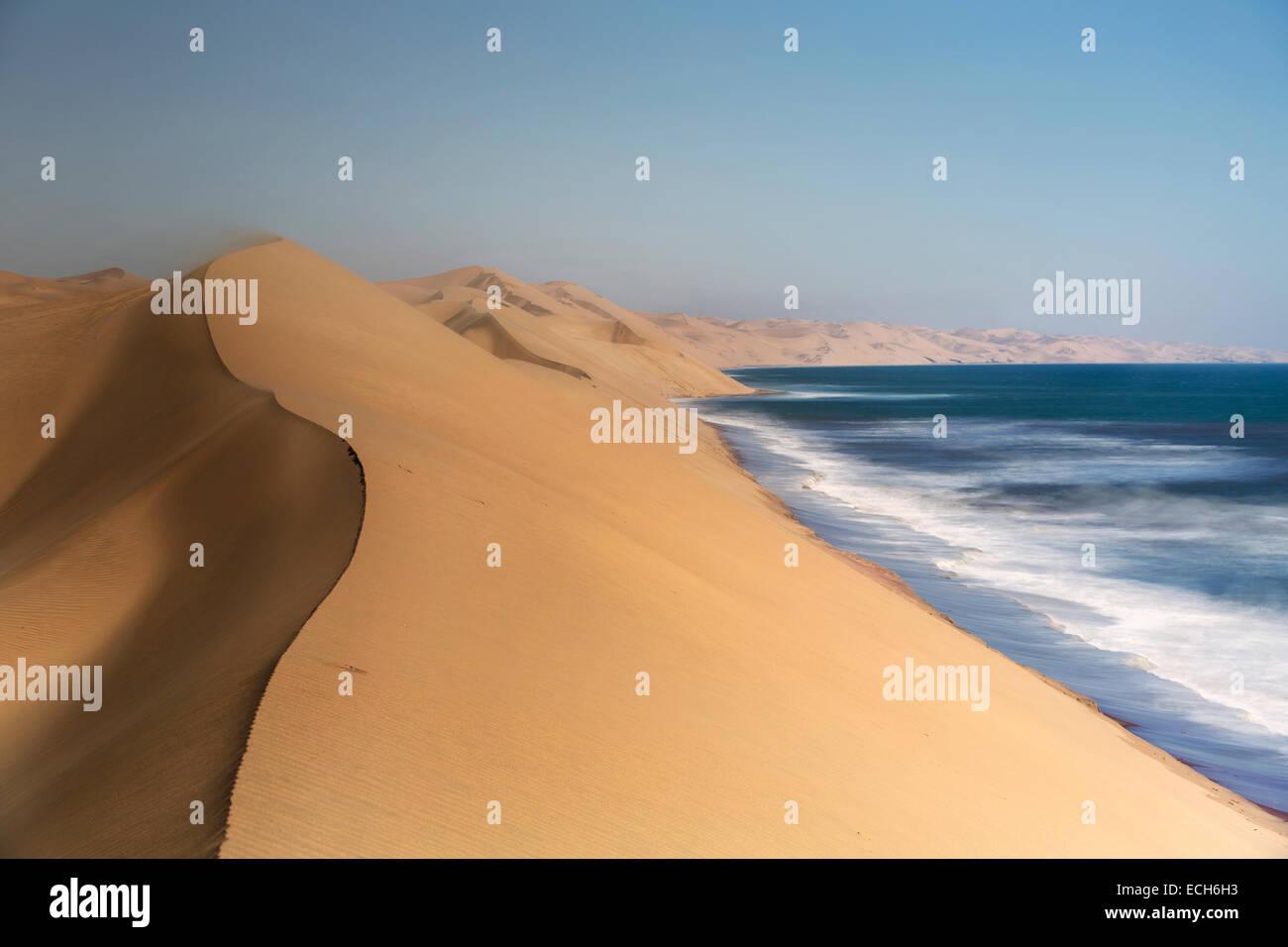 Dunes de sable, Désert du Namib, Swakopmund, Namibie Photo Stock