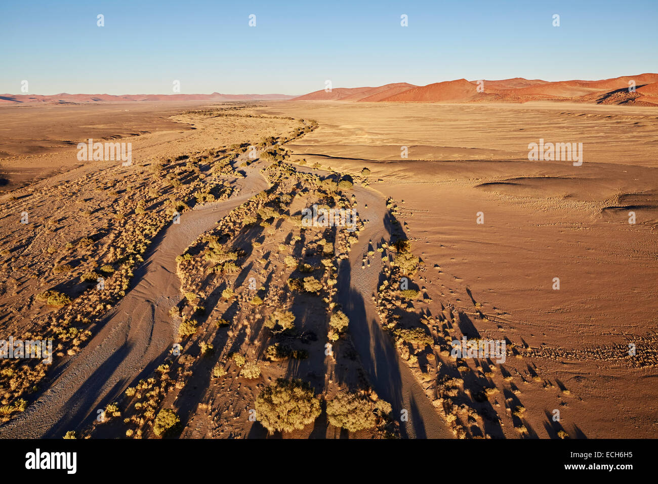 Namib, vue aérienne, Namib-Naukluft National Park, Namibie Photo Stock