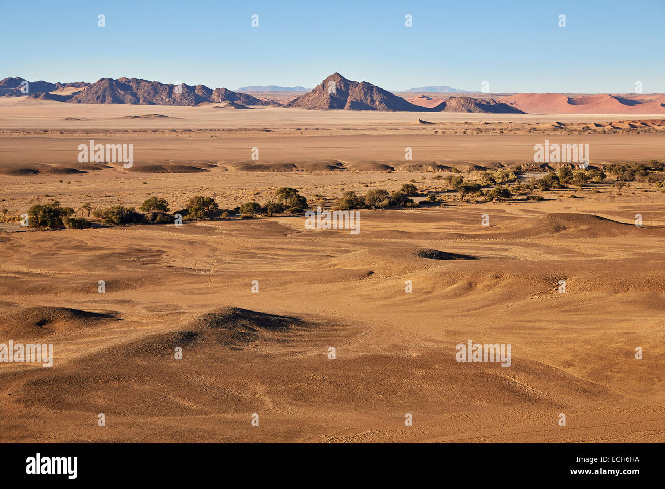 Le Naukluft Mountains, Namib-Naukluft National Park, Désert du Namib, Namibie Photo Stock