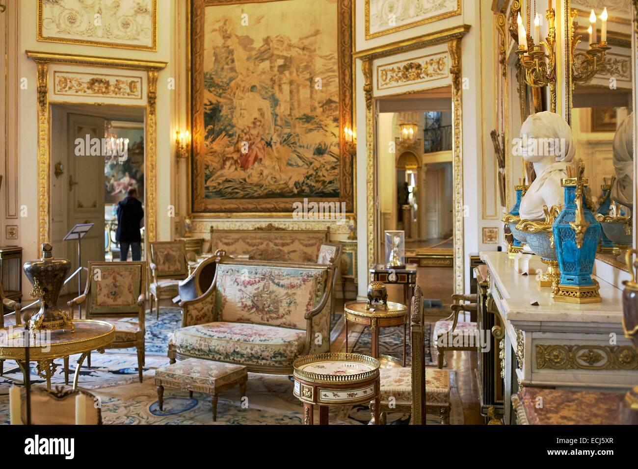 france paris mus e nissim de camondo grand salon collection de meubles et uvres d 39 art du. Black Bedroom Furniture Sets. Home Design Ideas