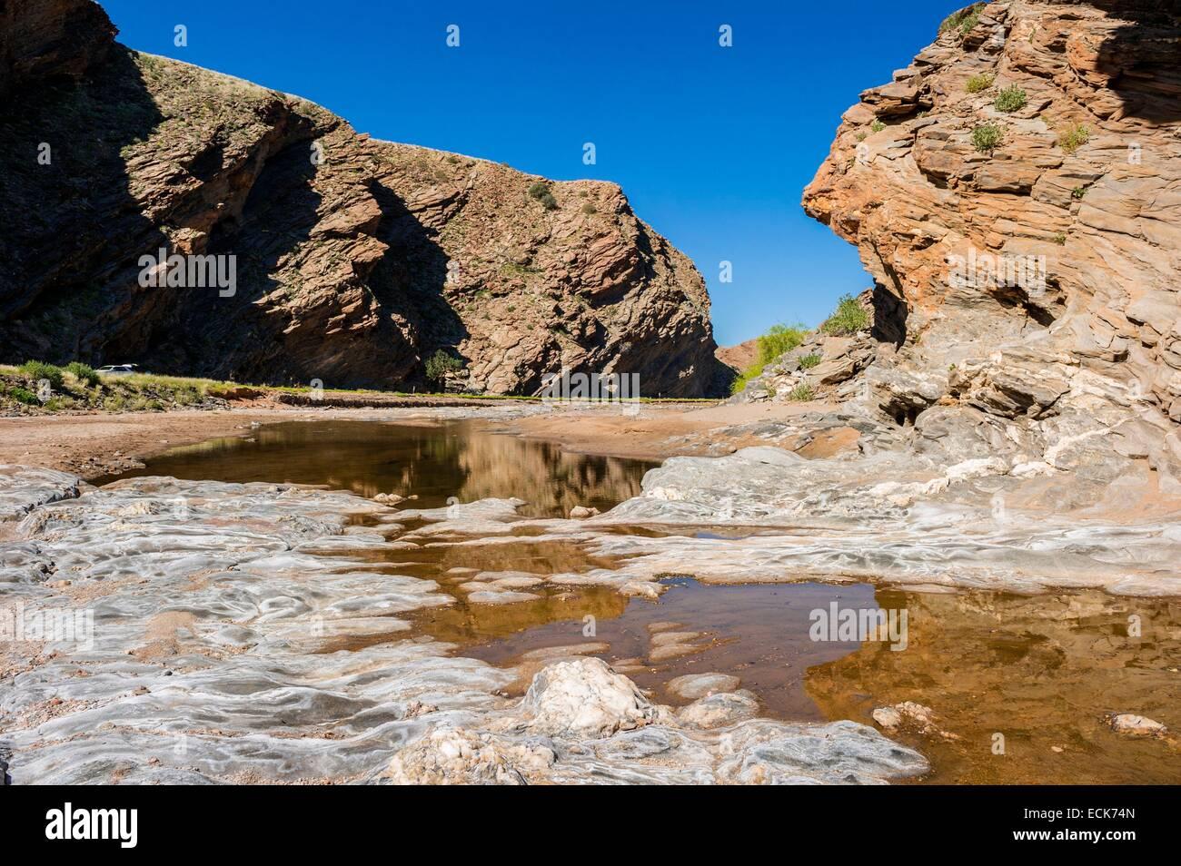 La Namibie, région Hardap, désert du Namib, le Namib Sable mer inscrite au Patrimoine Mondial de l'UNESCO, Photo Stock