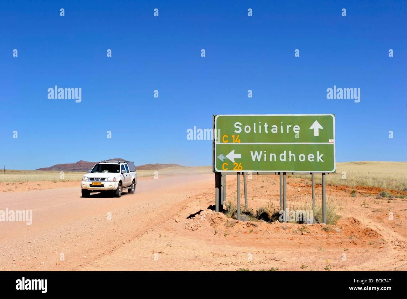 La Namibie Khomas, région, la route de Solitaire Photo Stock