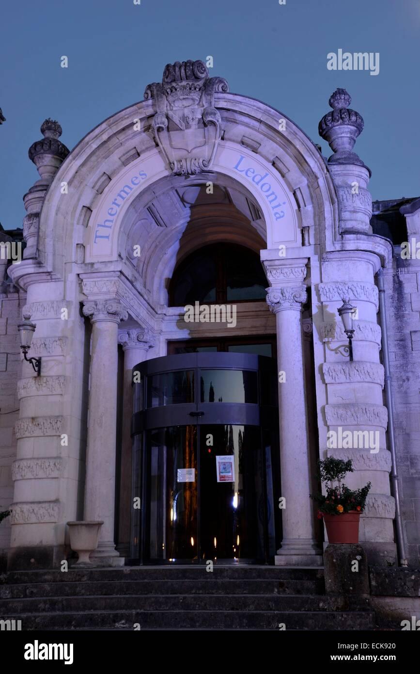 France, Jura, Lons le Saunier, Edward Guénon jardins spa, spas Ledonia en date du 19e siècle Banque D'Images