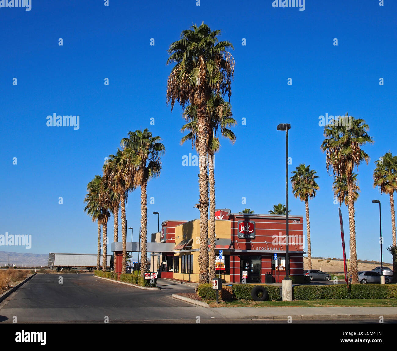 Jack in the Box restaurant, Vallée de San Joaquin, en Californie, USA Photo Stock