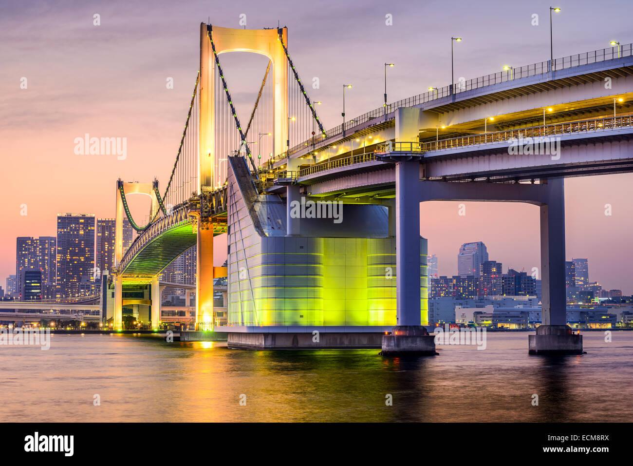 Tokyo, Japon Tokyo cityscape at Bay. Photo Stock