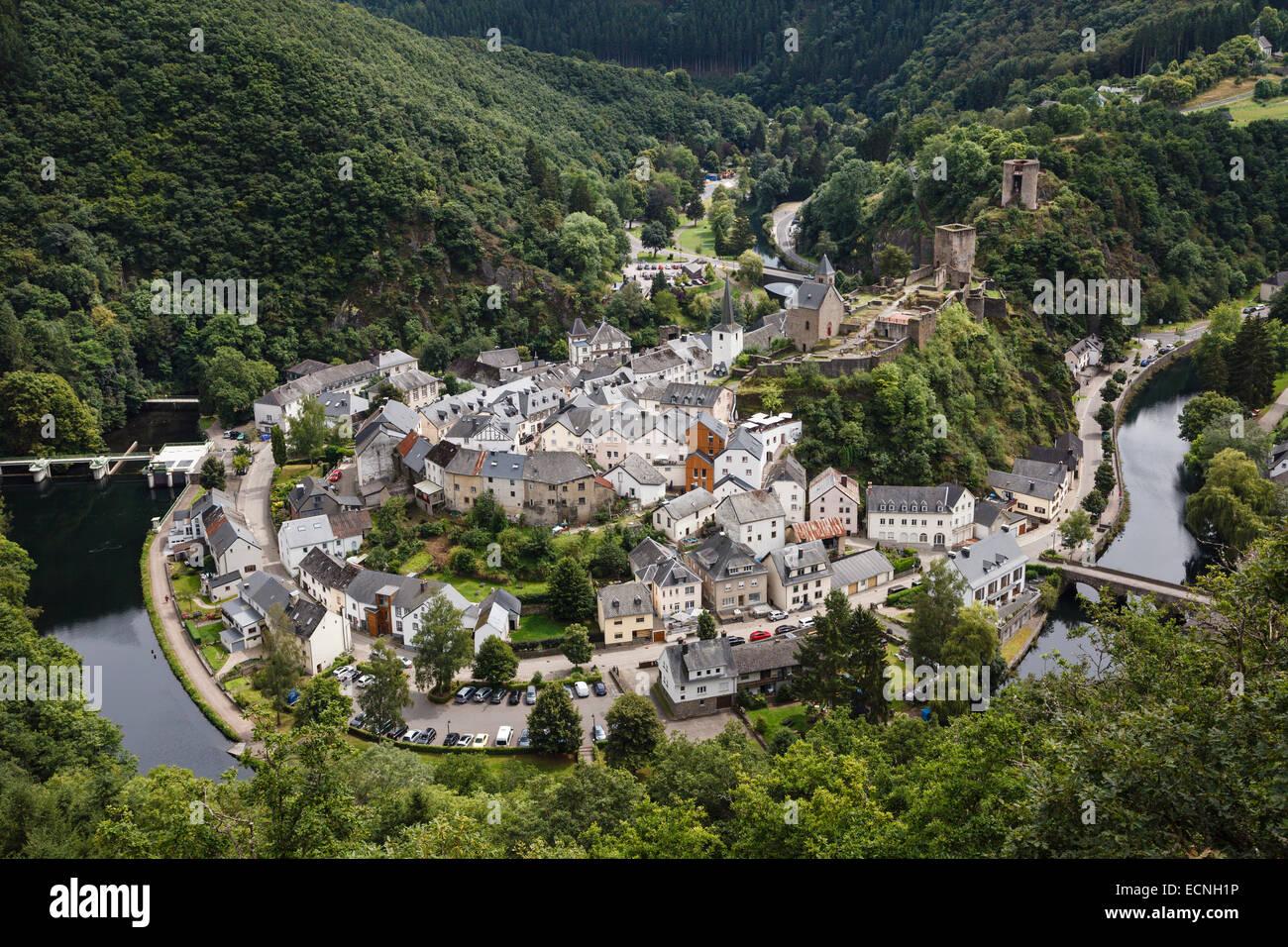 Esch-sur-Sûre, Luxembourg Photo Stock