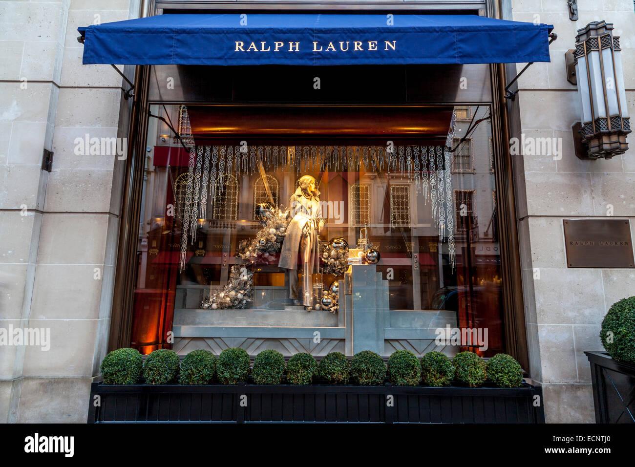 Afficher la fenêtre au magasin Ralph Lauren à New Bond Street, Londres,  Angleterre 3ec6030c0e3
