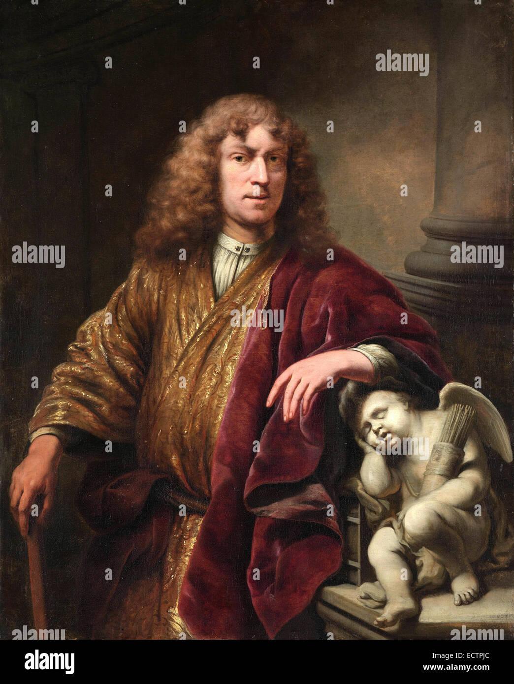 Ferdinand Bol, l'auto-portrait de l'artiste Banque D'Images