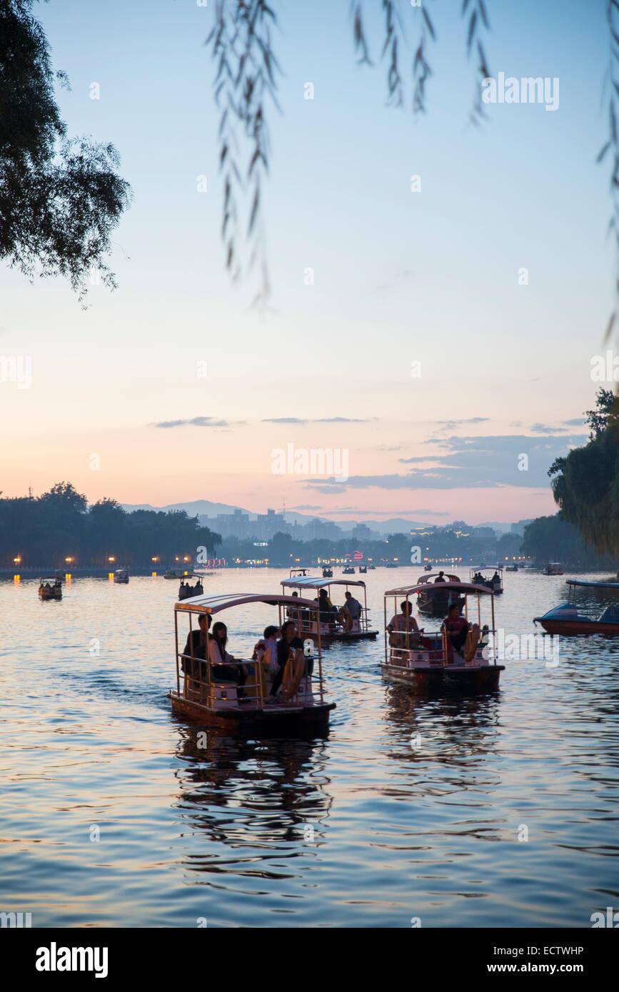 Shichaha lake, Dongcheng District, Beijing, Chine Photo Stock