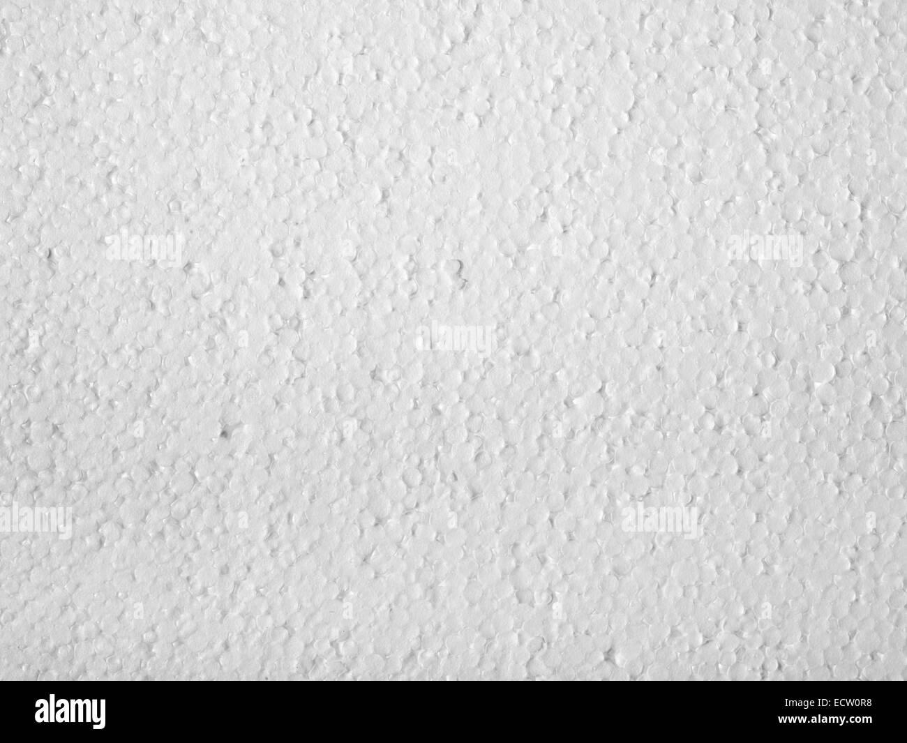 Gros plan plein cadre d'une surface en polystyrène blanc Photo Stock
