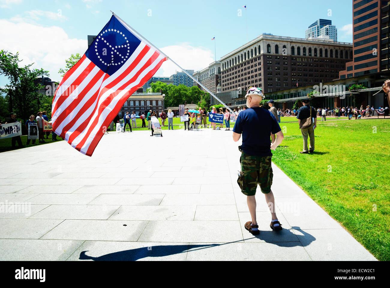 Manifestation dans les rues de Philadelphie Photo Stock