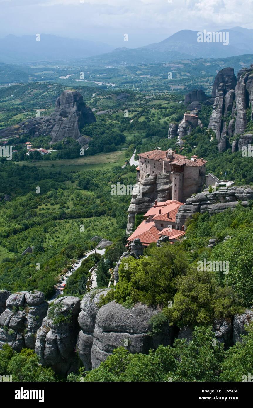 C'est un monastère situé très beauté - sur le haut du rocher. Banque D'Images