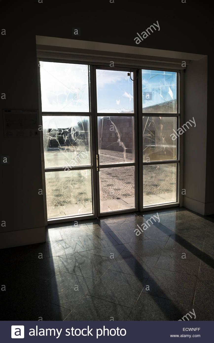 Porte en verre Photo Stock