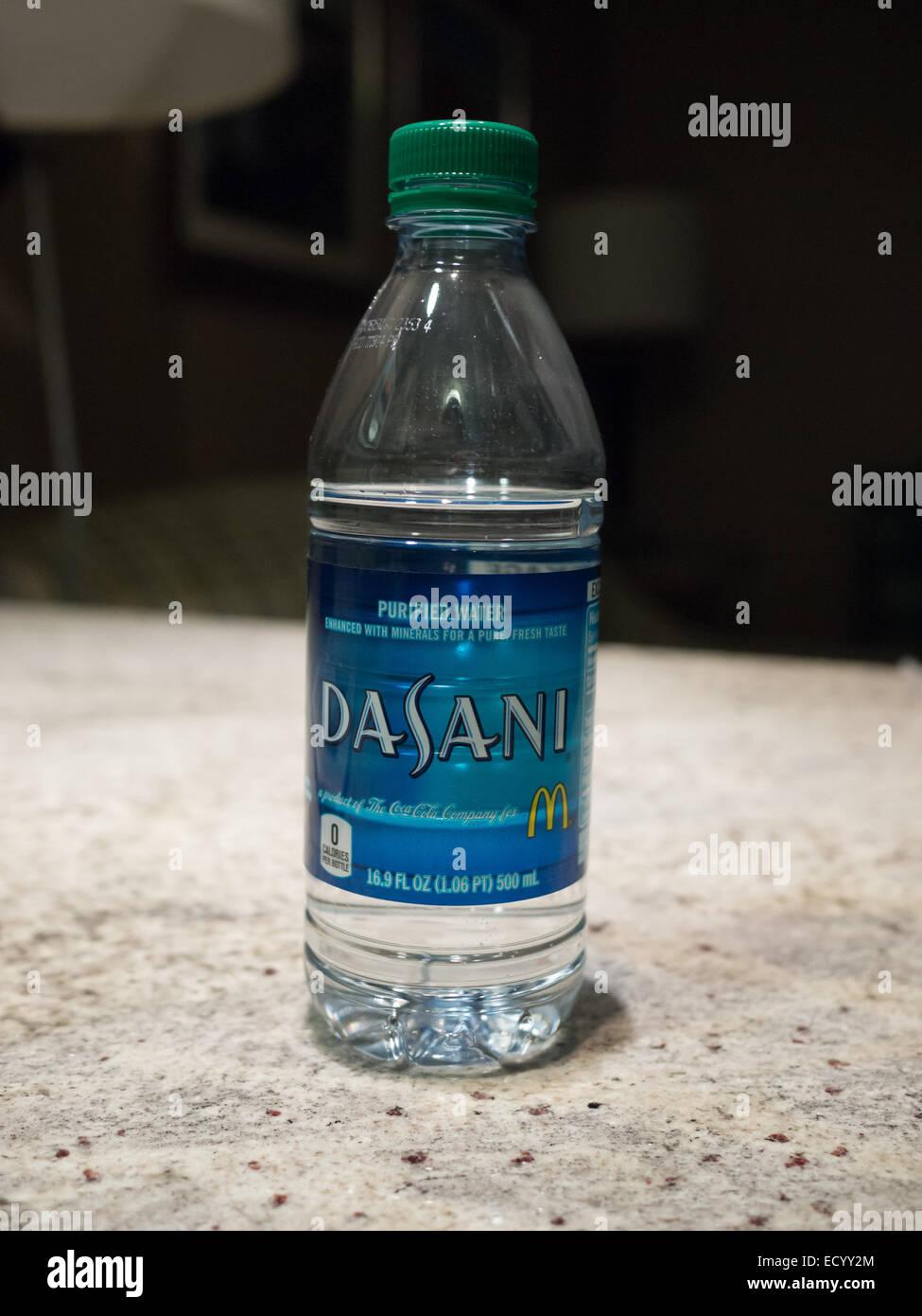 L'eau embouteillée Dasani Photo Stock