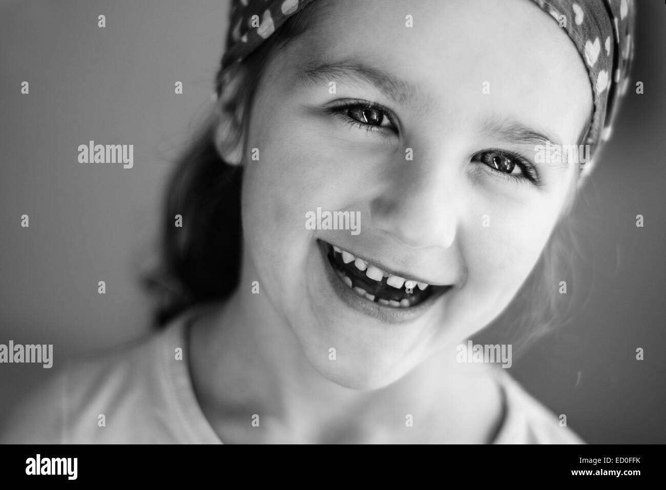 Portrait of smiling girl (4-5) Photo Stock