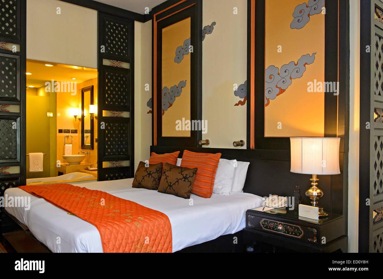 Chambre à l'hôtel Taj tashi, Thimphu, Bhoutan Photo Stock
