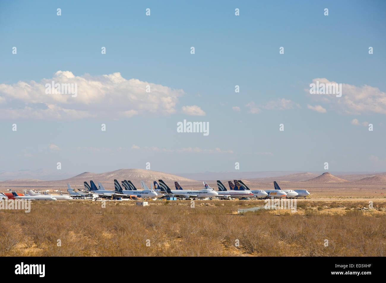 Cimetiere Avion Usa un avion cimetière à mojave, californai, usa banque d'images, photo