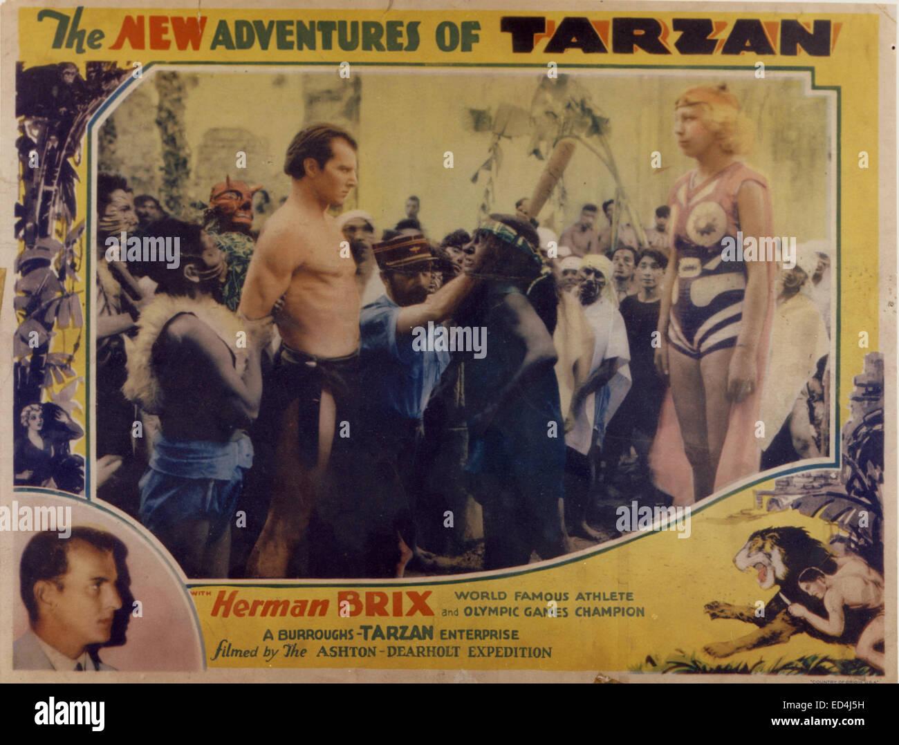 Les nouvelles aventures de Tarzan, vers 1930. Photo Herman Brix comme Tarzan. Avec la permission de Granamour Weems Photo Stock