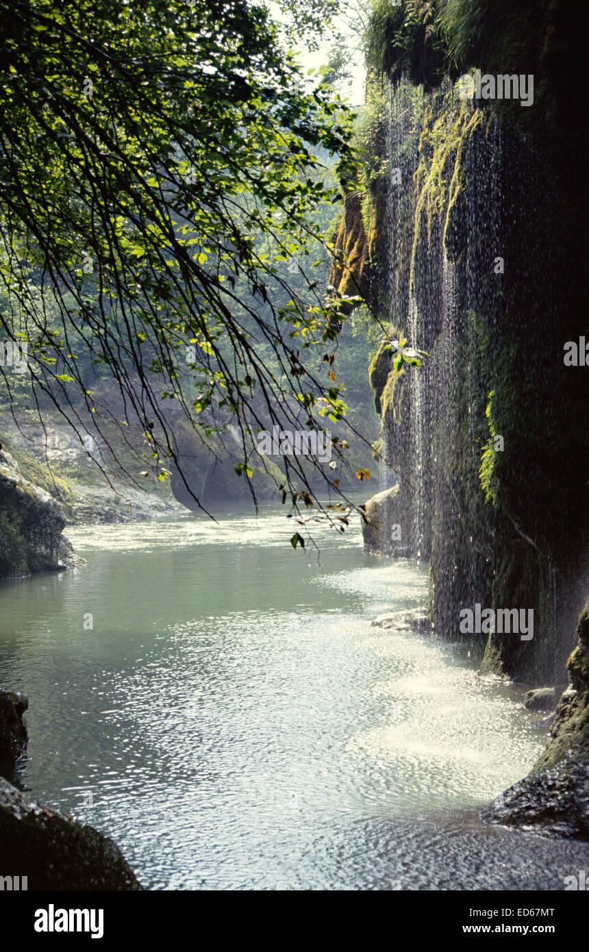 Rivière et Gorges du Fier, près d'Annecy, Savoie, France Photo Stock