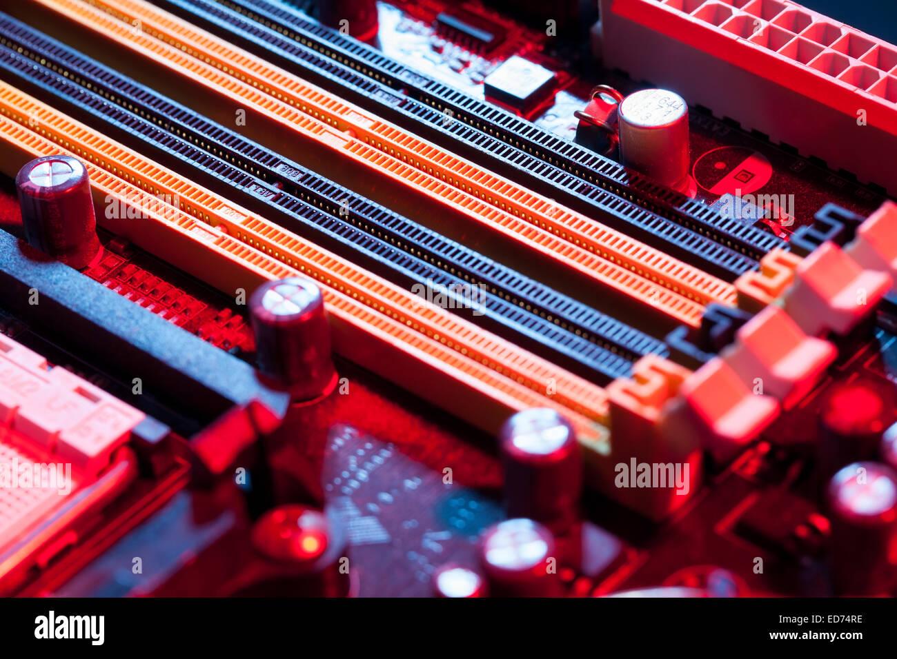 Support de mémoire carte mère Photo Stock