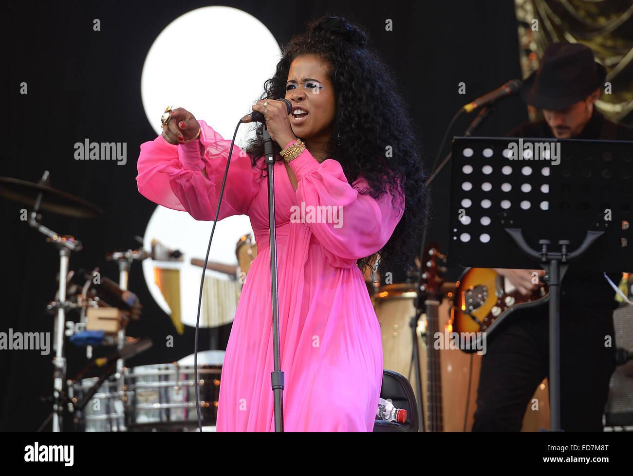 Glastonbury Festival 2014 - Performances - Jour 3 comprend: Kelis Où: Glastonbury, Royaume-Uni Photo Stock