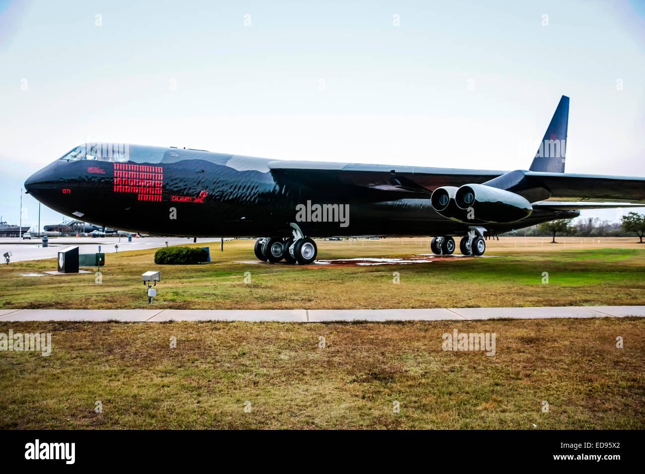 Bombardier Boeing B52 Stratofortress du Commandement aérien stratégique américaine sur l'affichage à l'USS Arizona Memorial Park à Mobile Banque D'Images